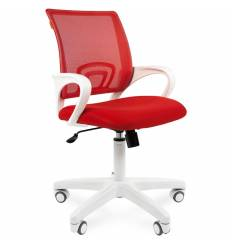 Кресло CHAIRMAN 696 WHITE/RED для оператора, белый пластик, цвет красный