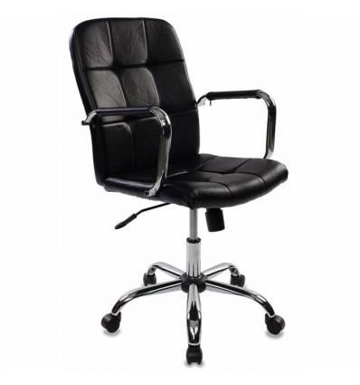 Кресло Бюрократ CH-909-LOW/BLACK для руководителя, цвет черный