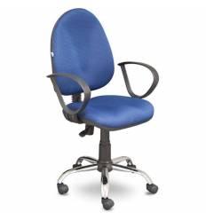 Кресло EChair-201 PJP/blue для оператора, ткань, цвет синий