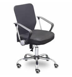 Кресло EChair-203 PTW/black для оператора, сетка/ткань, цвет черный