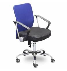 Кресло EChair-203 PTW/blue для оператора, сетка/ткань, цвет синий/черный