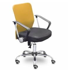 Кресло EChair-203 PTW/orange для оператора, сетка/ткань, цвет оранжевый/черный