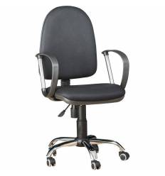 Кресло EChair-217 PTW/black для оператора, ткань, цвет черный