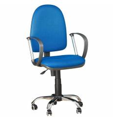 Кресло EChair-217 PTW/blue для оператора, ткань, цвет синий