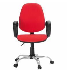 Кресло EChair-222 PC/red для оператора, ткань, цвет красный