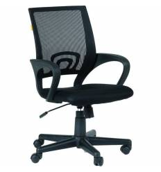 Кресло EChair-304 TC Net/black для оператора, сетка/ткань, цвет черный