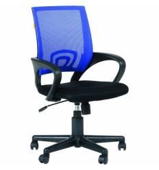 Кресло EChair-304 TC Net/blue для оператора, сетка/ткань, цвет синий/черный