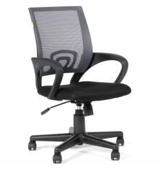 Кресло EChair-304 TC Net/grey для оператора, сетка/ткань, цвет серый/черный