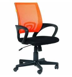 Кресло EChair-304 TC Net/orange для оператора, сетка/ткань, цвет оранжевый/черный