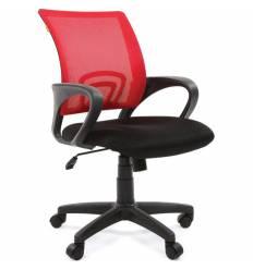 Кресло EChair-304 TC Net/red для оператора, сетка/ткань, цвет красный/черный