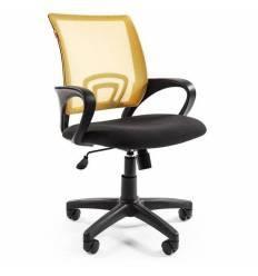 Кресло EChair-304 TC Net/yellow для оператора, сетка/ткань, цвет желтый/черный