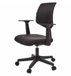 Кресло EChair-321 PTW/black для оператора, сетка/ткань, цвет черный
