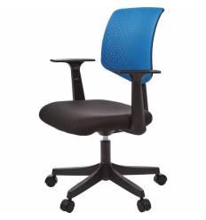 Кресло EChair-321 PTW/blue для оператора, сетка/ткань, цвет синий/черный