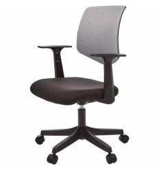 Кресло EChair-321 PTW/grey для оператора, сетка/ткань, цвет серый/черный