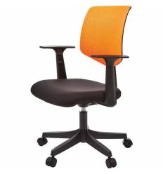 Кресло EChair-321 PTW/orange для оператора, сетка/ткань, цвет оранжевый/черный