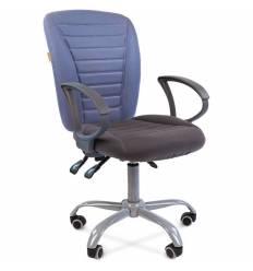 Кресло CHAIRMAN 9801 ERGO/GREY-BLUE для оператора, ткань, цвет голубой/серый