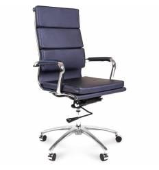 Кресло CHAIRMAN 750/blue для руководителя, экокожа, цвет синий металлик