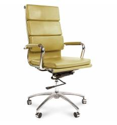 Кресло CHAIRMAN 750/pistachio для руководителя, экокожа, цвет фисташковый
