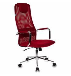 Кресло Бюрократ KB-9/R/TW-97N для руководителя, цвет красный