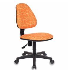 Кресло Бюрократ KD-4/GIRAFFE детское, цвет оранжевый жираф