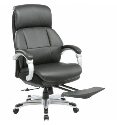 Кресло Бюрократ _MIRO/BLACK для руководителя, кожа/кожзам, цвет черный