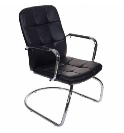 Кресло Бюрократ CH-909-LOW-V/BLACK для посетителя, цвет черный