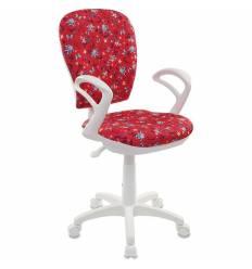 Кресло Бюрократ CH-W513AXN/ANCHOR-RD детское, для оператора, цвет красный якоря, белый пластик