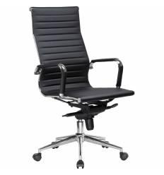 Кресло LMR-101F/black для руководителя, экокожа, цвет черный