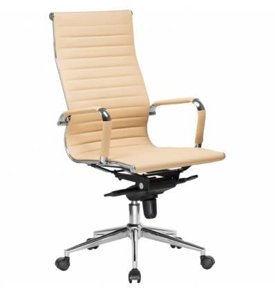 Кресло LMR-101F/beige для руководителя, экокожа, цвет бежевый