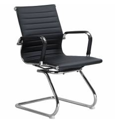 Кресло LMR-102N/black для посетителя, экокожа, цвет черный