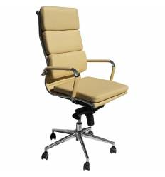 Кресло LMR-103F/beige для руководителя, экокожа, цвет бежевый