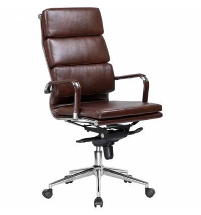 Кресло LMR-103F/brown для руководителя, экокожа, цвет коричневый