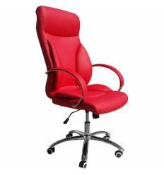 Кресло LMR-104B/red для руководителя, экокожа, цвет красный