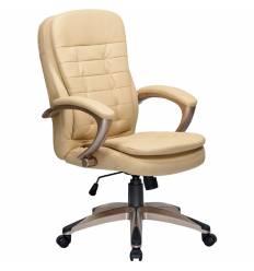 Кресло LMR-106B/beige для руководителя, экокожа, цвет бежевый
