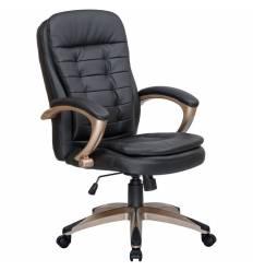 Кресло LMR-106B/black для руководителя, экокожа, цвет черный