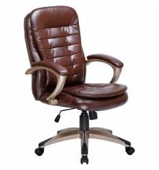 Кресло LMR-106B/brown для руководителя, экокожа, цвет коричневый