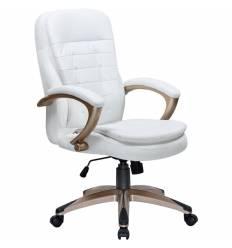 Кресло LMR-106B/white для руководителя, экокожа, цвет белый