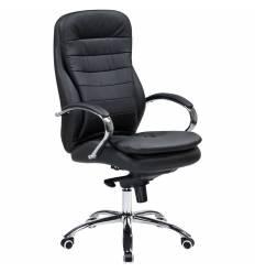 Кресло LMR-108F/black для руководителя, экокожа, цвет черный