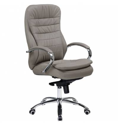 Кресло LMR-108F/grey  для руководителя, экокожа, цвет серый