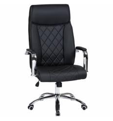 Кресло LMR-110B/black для руководителя, экокожа, цвет черный