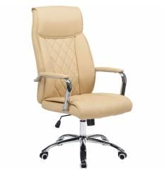 Кресло LMR-110B/cream для руководителя, экокожа, цвет кремовый