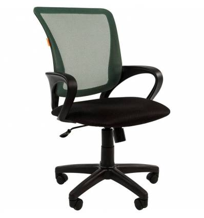 Кресло CHAIRMAN 969/GREEN для оператора, сетка/ткань, цвет зеленый/черный