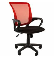 Кресло CHAIRMAN 969/RED для оператора, сетка/ткань, цвет красный/черный