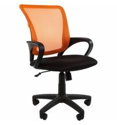Кресло CHAIRMAN 969/ORANGE для оператора, сетка/ткань, цвет оранжевый/черный