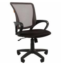 Кресло CHAIRMAN 969 GREY для оператора, сетка/ткань, цвет серый/черный