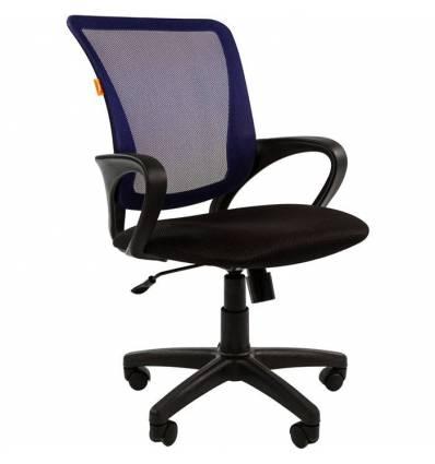 Кресло CHAIRMAN 969/BLUE для оператора, сетка/ткань, цвет синий/черный