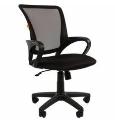 Кресло CHAIRMAN 969 BLACK для оператора, сетка/ткань, цвет черный