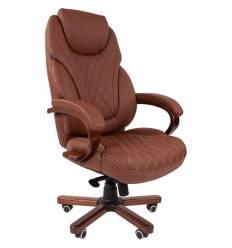 Кресло CHAIRMAN 406/beige для руководителя, экокожа, цвет бежевый