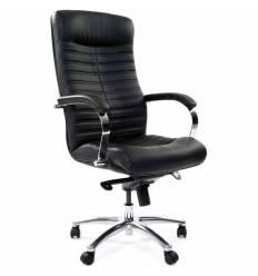 Кресло CHAIRMAN 480 кожа для руководителя, цвет черный