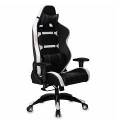Кресло Бюрократ CH-772/BLACK+WH игровое, черный/белый